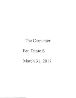The Carpenterby Dante S.