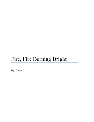 Fire, Fire Burning Brightby Elena L.