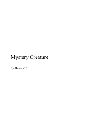 Mystery Creatureby Herman U.