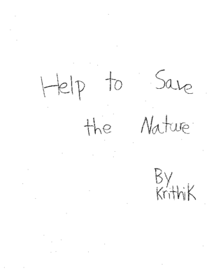 Help To Save The Natureby Krithik V.