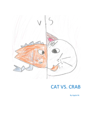 Cat vs. Crab by Apple M.