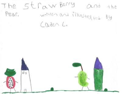 The Strawberry and the Pear by Caden C.