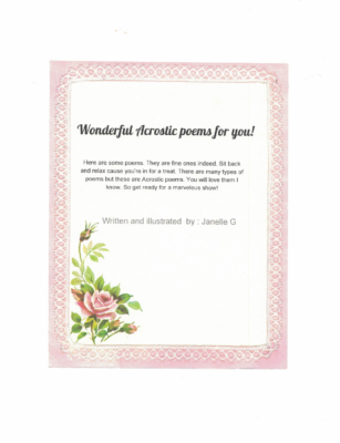 Wonderful Acrostic Poems For Youby Janelle G.