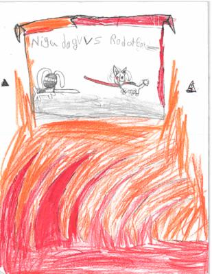 Ninja Dog vs. Robot Catby Cristian Z.