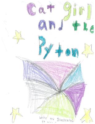 Cat Girl and Python by Diya G.