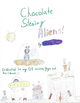 Chocolate Stealing Aliens by Ella S.