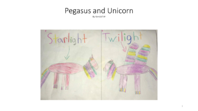 Pegasus and Unicorn by Kendall W.
