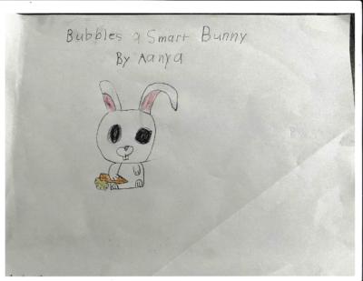 Bubbles a Smart Bunny by Aanya K.