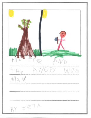The Tree and the Angry Wood Man by Jetrin A.