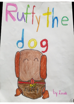 Ruffy the Dog by Inah K.
