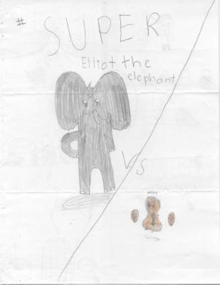 Super Elliot the Elephant vs Peanut  by Ivy I.