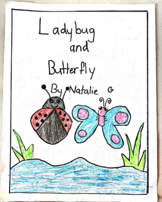 LadyBug and Butterfly by Natalie G.