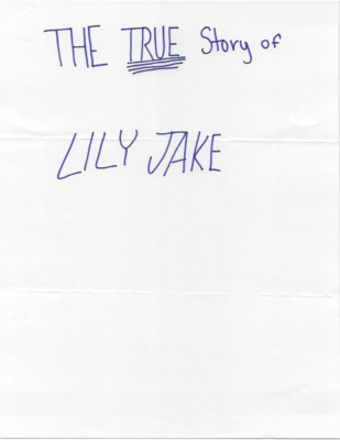 The True Story of Lily Jake  by Sophie I.